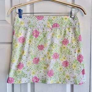 LILLY PULITZER White floral mini short skirt 4
